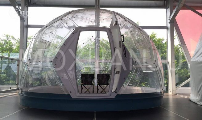 Geodesic glass dome house