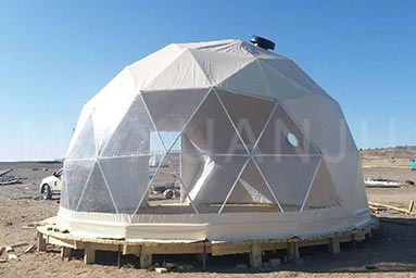 Starry Geodesic Dome Tent