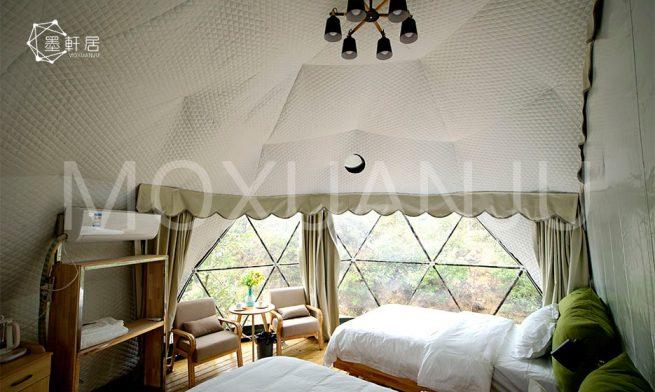Sky Hotel Tents indoor
