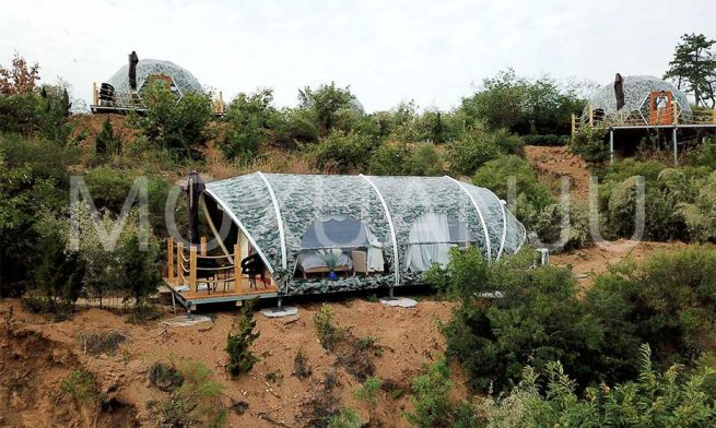 Outdoors Shell Shape Glamping Tent 2