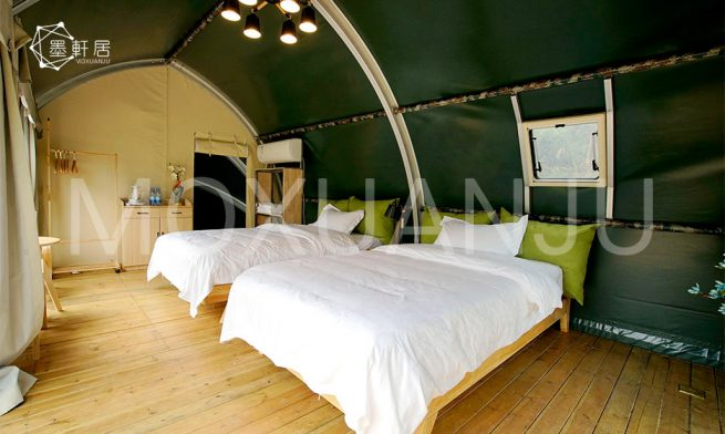 Shell Shape Glamping Tent indoor