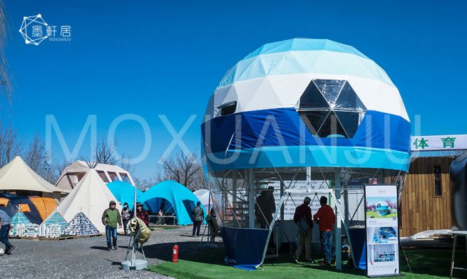 two story Geodesic Dome Glamping