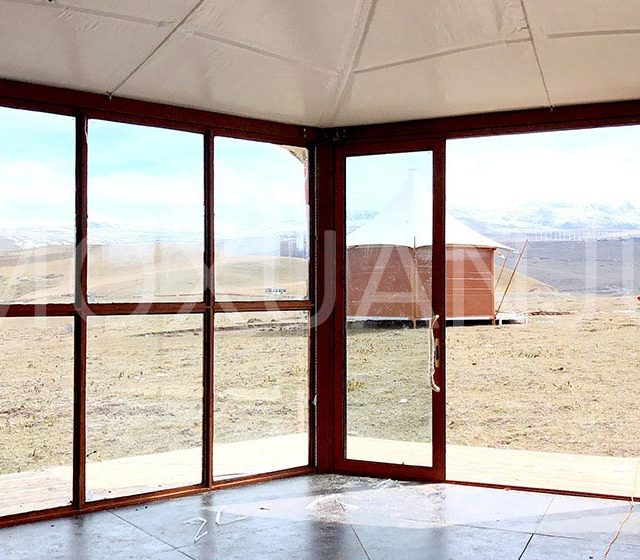 Double Peak Safari Tent indoor