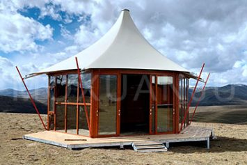 Hexagonal Glamping Safari Tent