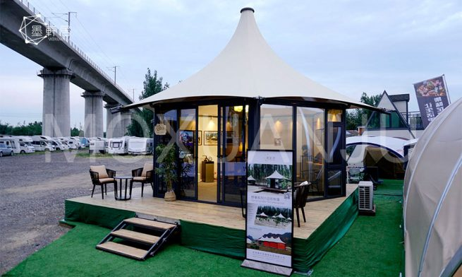 Hexagonal Glamping Safari Tent 5