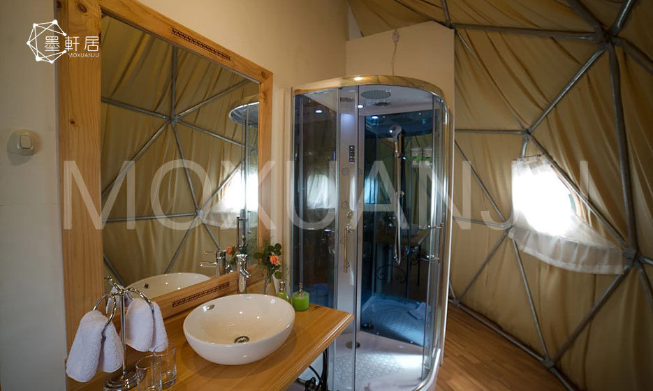 How To Get A Bathroom In A Glamping Tent Moxuanju Glamping Tent