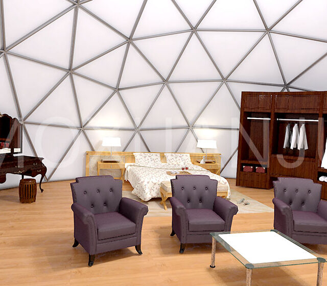 Stars Dome Glamping Tent indoor