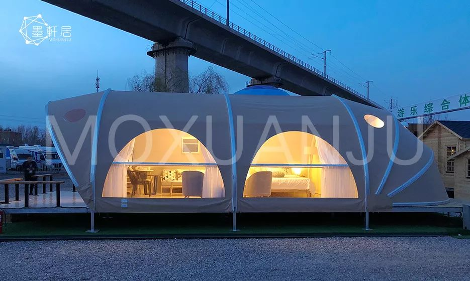 Shell shaped glamping tent for sale