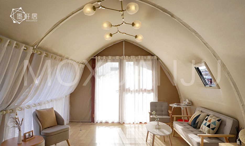 outdoors glamping tent