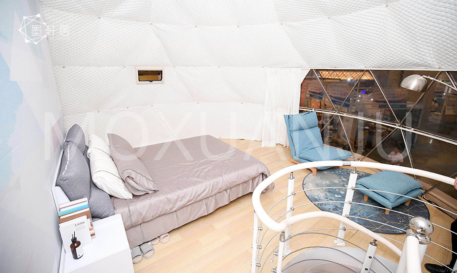 Two Story Glamping Dome interior decoration