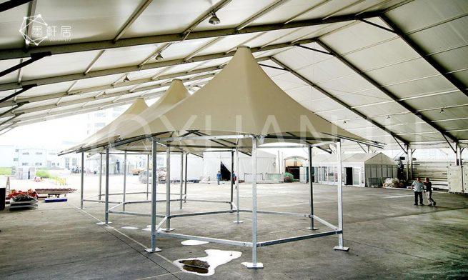 luxury glamping safari tent