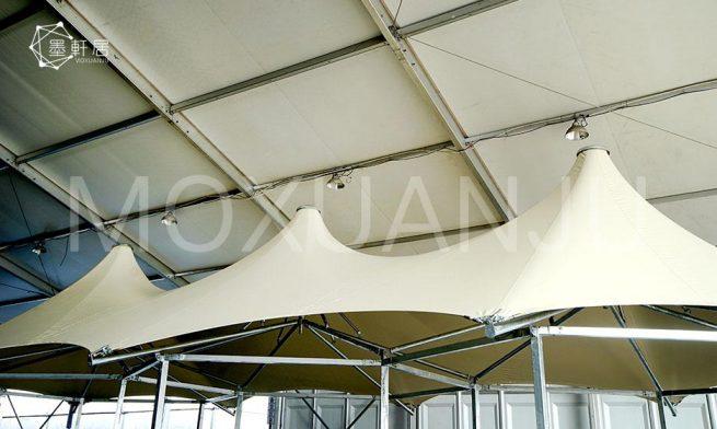 multi peak glamping safari tent detail