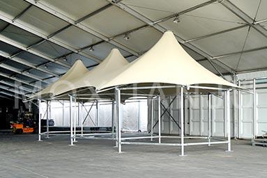 multi peak glamping safari tent