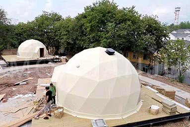 6 Meter Glamping Dome With Bathroom 1