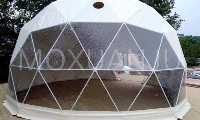 luxury 6 Glamping Dome With Bathroom