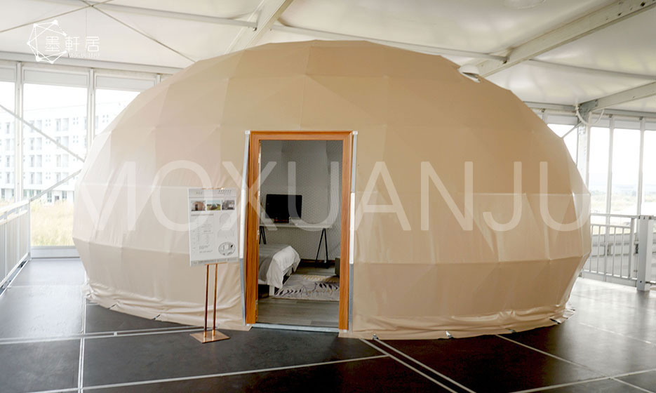 Elliptical Glamping domes