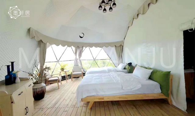 Glamping Dome Tent indoor