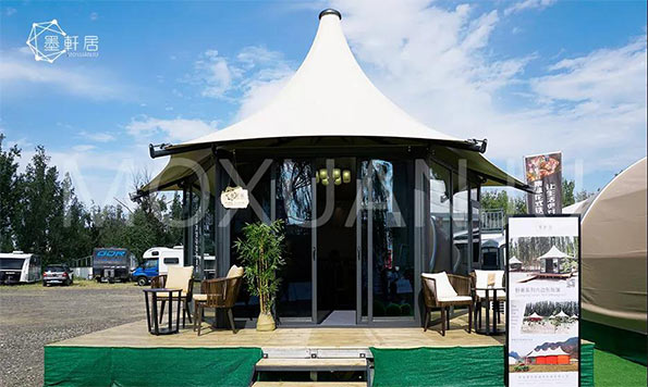 luxury glamping tent