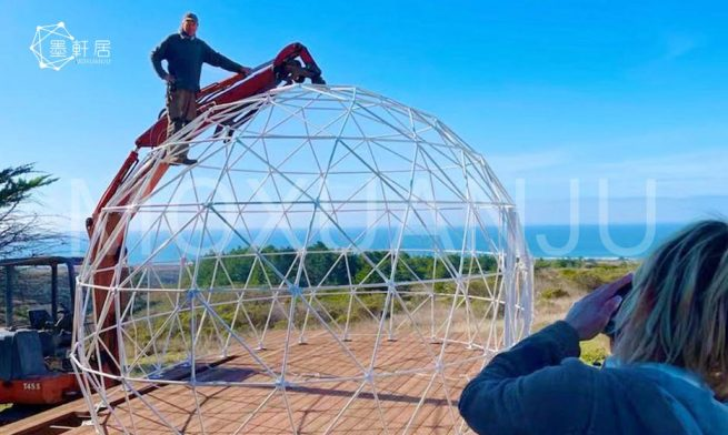 oval dome house for glamping living 1