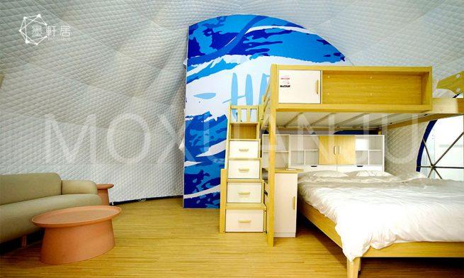 Ladybug Dome Glamping indoor