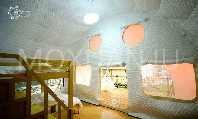 Ladybug Dome Glamping shower room