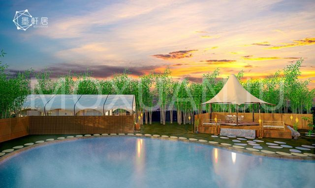 Eco Resort Tent for hot spring
