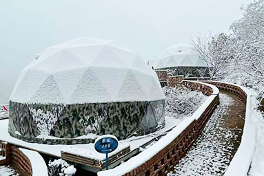 Geodesic Dome Glamping In The Winter