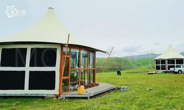 Outdoor Luxury Glamping Tent for Grassland