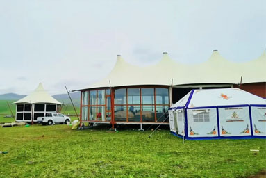 Safari Tent Glamping on Grassland