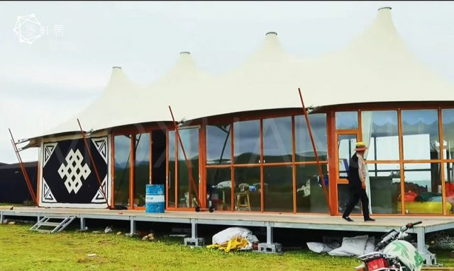 Waterproof Glamping Camping Luxury Safari Tent