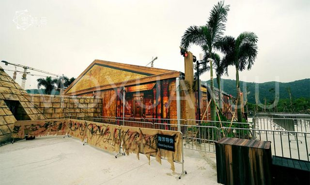 Theme parks temporary building and design