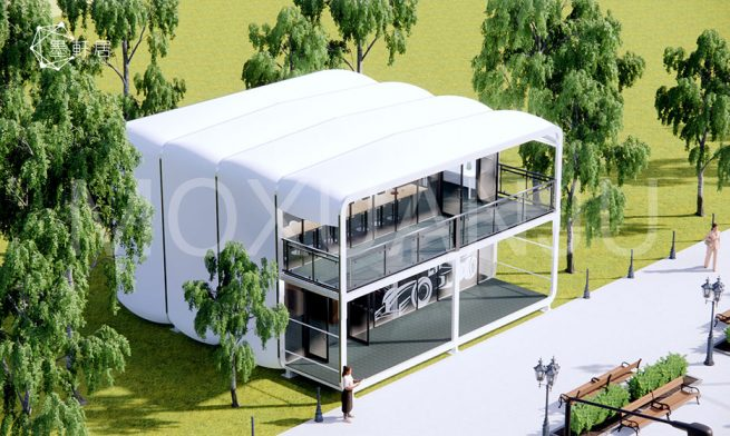 Two Story Capsule House Design