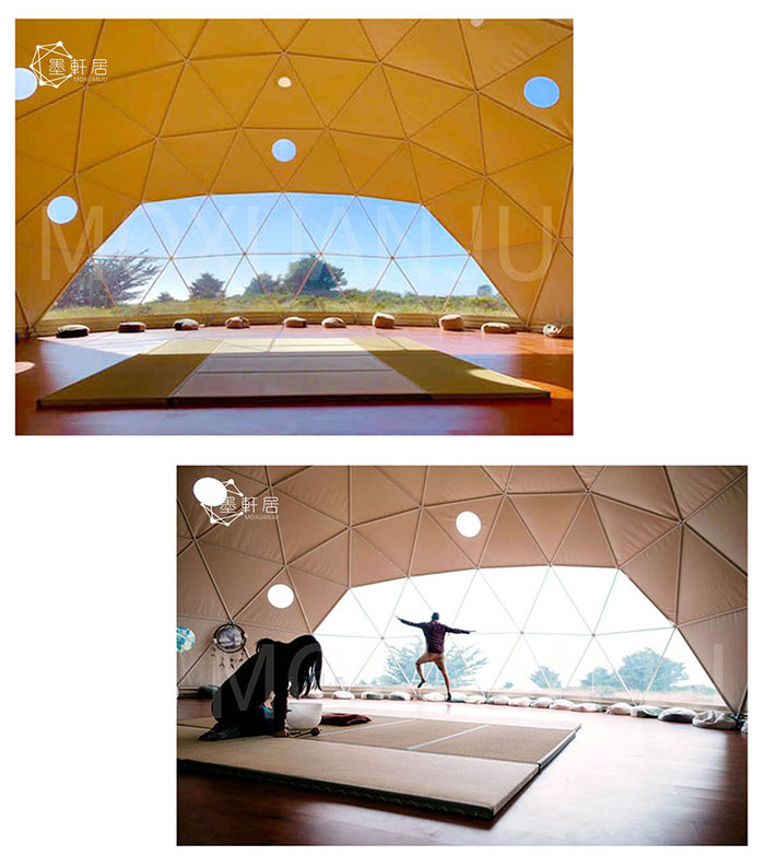 outdoors yoga tent