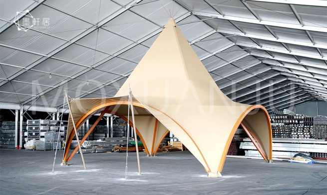 Large high end glamping tents
