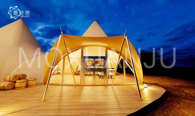 restaurant open in teepee tent