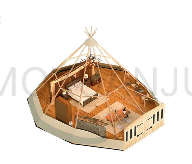 Tipi Glamping Tent Design 1